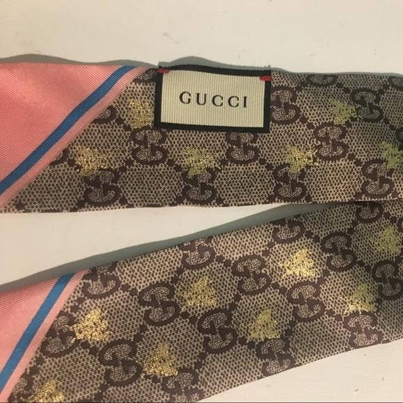 984c7e6f2c Gucci bees silk neck bow NWT